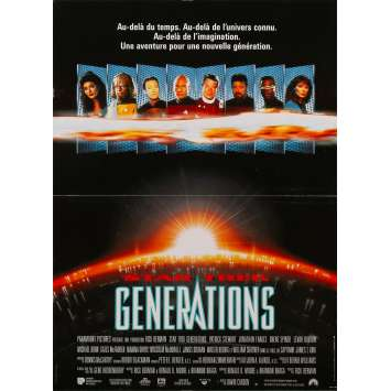 STAR TREK GENERATIONS Original Movie Poster - 15x21 in. - 1994 - David Carson, Patrick Stewart, William Shatner