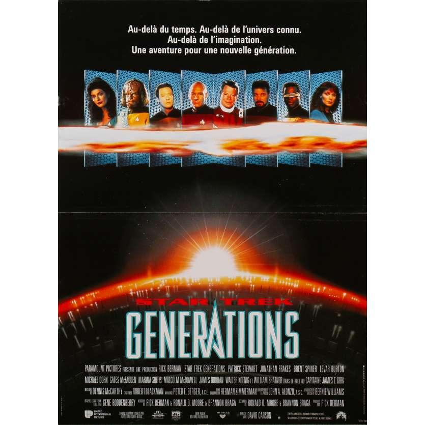 STAR TREK GENERATIONS Affiche de film - 40x60 cm. - 1994 - Patrick Stewart, William Shatner, David Carson
