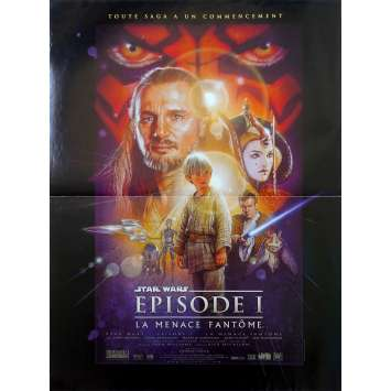 STAR WARS - THE PHANTOM MENACE Original Movie Poster - 15x21 in. - 1999 - George Lucas, Ewan McGregor