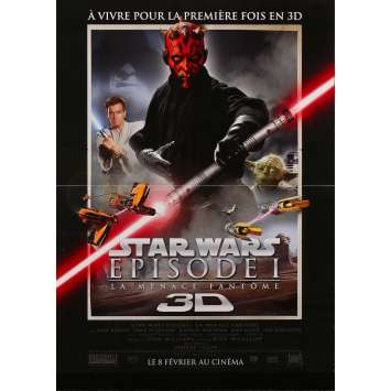 STAR WARS - THE PHANTOM MENACE Original Movie Poster 3D - 15x21 in. - 1999 - George Lucas, Ewan McGregor