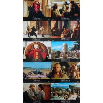 STAR WARS - THE PHANTOM MENACE Original Lobby Cards x10 - 9x12 in. - 1999 - George Lucas, Ewan McGregor
