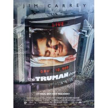 THE TRUMAN SHOW Original Movie Poster - 47x63 in. - 1998 - Peter Weir, Jim Carrey, Ed Harris