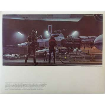 STAR WARS - LA GUERRE DES ETOILES Artwork N21 - 28x36 cm. - 1977 - Harrison Ford, George Lucas
