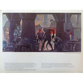 STAR WARS - LA GUERRE DES ETOILES Artwork N20 - 28x36 cm. - 1977 - Harrison Ford, George Lucas