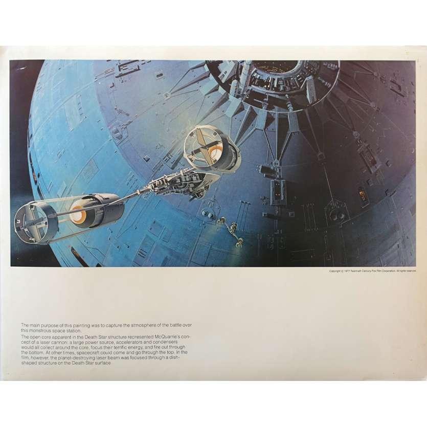 STAR WARS - LA GUERRE DES ETOILES Artwork N19 - 28x36 cm. - 1977 - Harrison Ford, George Lucas