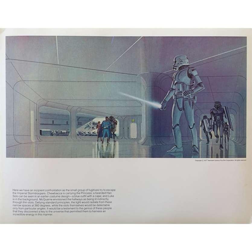 STAR WARS - LA GUERRE DES ETOILES Artwork N18 - 28x36 cm. - 1977 - Harrison Ford, George Lucas