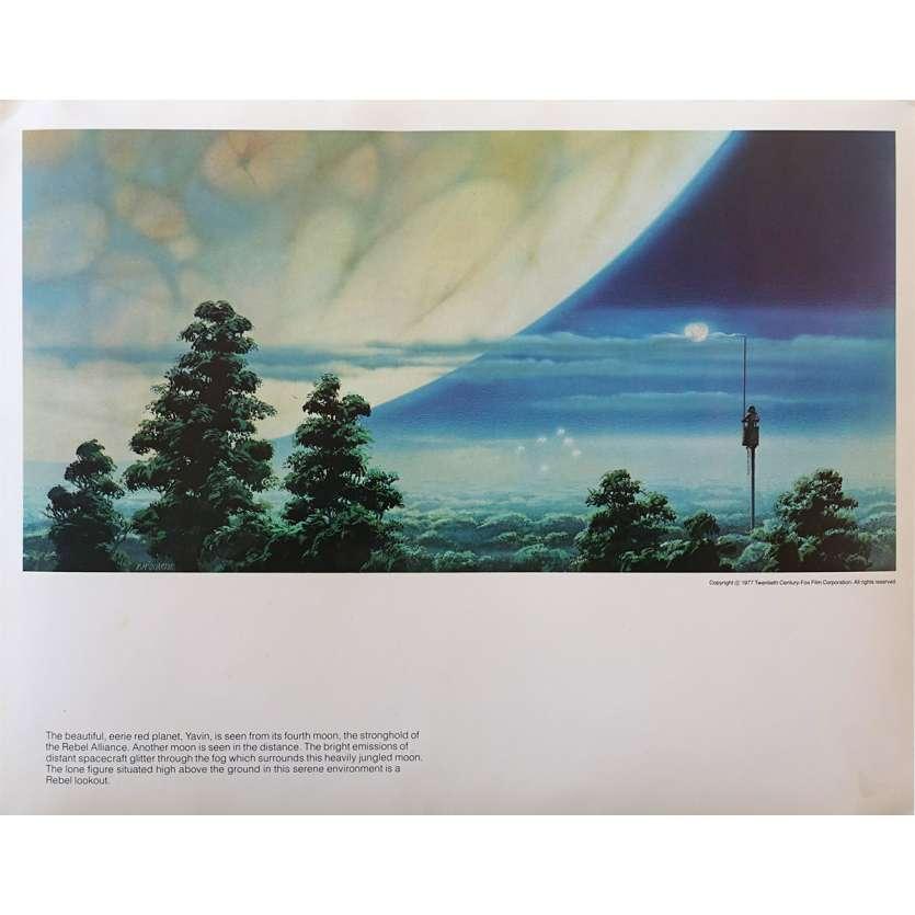 STAR WARS - LA GUERRE DES ETOILES Artwork N16 - 28x36 cm. - 1977 - Harrison Ford, George Lucas