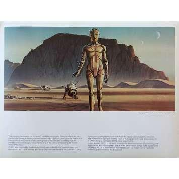 STAR WARS - LA GUERRE DES ETOILES Artwork N13 - 28x36 cm. - 1977 - Harrison Ford, George Lucas