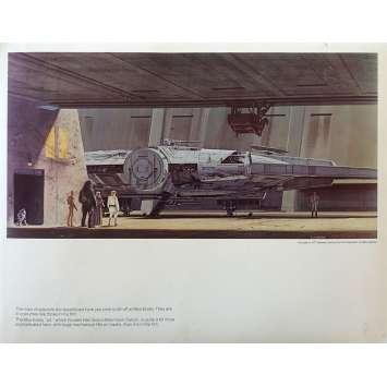STAR WARS - LA GUERRE DES ETOILES Artwork N12 - 28x36 cm. - 1977 - Harrison Ford, George Lucas