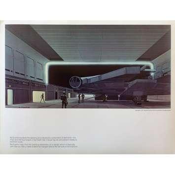 STAR WARS - LA GUERRE DES ETOILES Artwork N11 - 28x36 cm. - 1977 - Harrison Ford, George Lucas