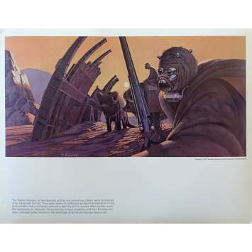 STAR WARS - LA GUERRE DES ETOILES Artwork N09 - 28x36 cm. - 1977 - Harrison Ford, George Lucas