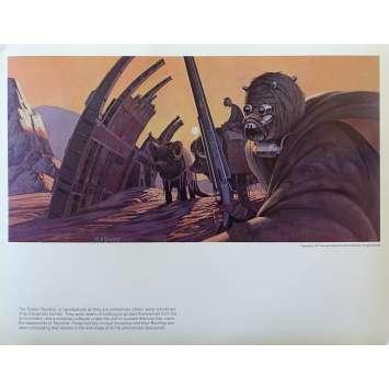 STAR WARS - LA GUERRE DES ETOILES Artwork N09 - 28x36 cm. - 1977 - Harrison Ford, George Lucas