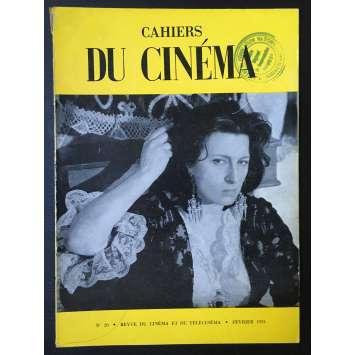 LES CAHIERS DU CINEMA Magazine N°020 - 1953 - Anna Magnani