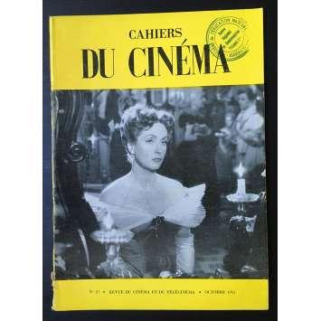 LES CAHIERS DU CINEMA Magazine N°027 - 1953 - Danielle Darrieux
