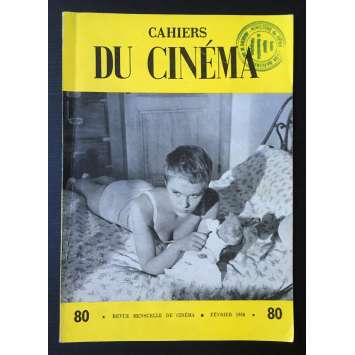 LES CAHIERS DU CINEMA Magazine N°080 - 1958 - Jean Seberg