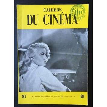 LES CAHIERS DU CINEMA Original Magazine N°081 - 1958 - Max Ophuls, Dorothy Malone