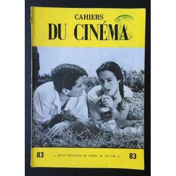 LES CAHIERS DU CINEMA Original Magazine N°083 - 1958 - Jacques Tati, L'eau Vive