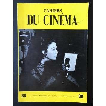 LES CAHIERS DU CINEMA Magazine N°088 - 1958 - King Vidor, Ava Gardner