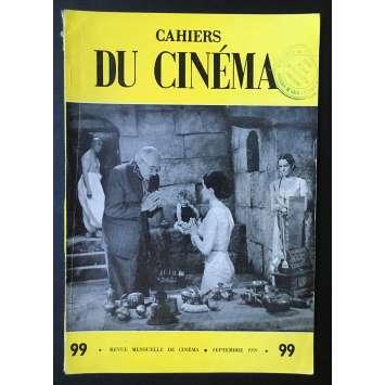 LES CAHIERS DU CINEMA Original Magazine N°099 - 1959 - Fritz Lang, Debra Paget