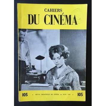 LES CAHIERS DU CINEMA Original Magazine N°105 - 1960 - Alexandra Stewart
