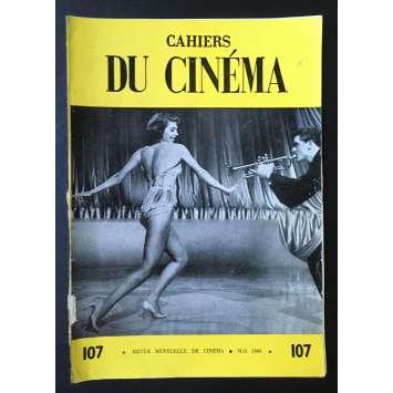 LES CAHIERS DU CINEMA Original Magazine N°107 - 1960 - Cyd Charisse