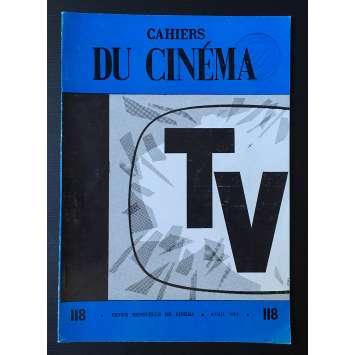 LES CAHIERS DU CINEMA Magazine N°118 - 1961 - Spécial TV