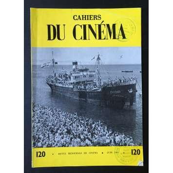 LES CAHIERS DU CINEMA Magazine N°120 - 1961 - Exodus