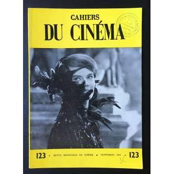LES CAHIERS DU CINEMA Magazine N°123 - 1961 - Delphine Seyrig