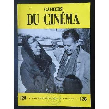 LES CAHIERS DU CINEMA Original Magazine N°128 - 1962 - Glen Ford, Minelli