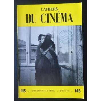 LES CAHIERS DU CINEMA Magazine N°145 - 1963 - Preminger, Rosselini