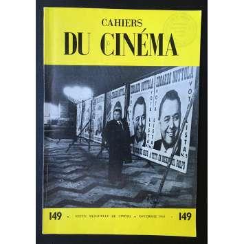 LES CAHIERS DU CINEMA Magazine N°149 - 1963 - Franju