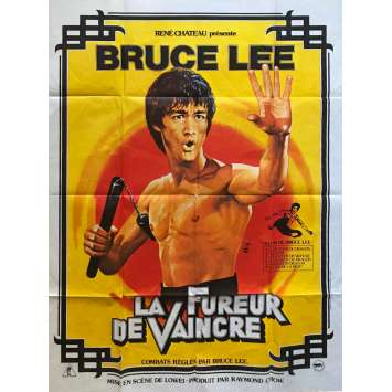 LA FUREUR DE VAINCRE Affiche de film 120x160 cm - 1982 - Bruce Lee