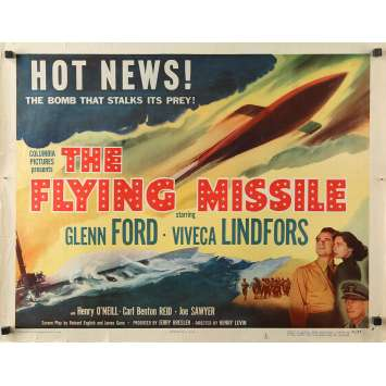 THE FLYING MISSILE Original Movie Poster - 21x28 in. - 1950 - Henry Levin, Glenn Ford, iveca Lindfors