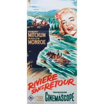 LA RIVIERE SANS RETOUR Affiche de film - 40x80 cm. - 1954 - Marilyn Monroe, Otto Preminger