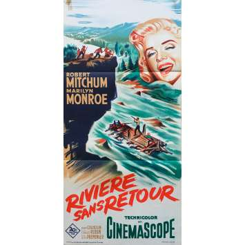 RIVER OF NO RETURN Original Movie Poster - 15x32 in. - 1954 - Otto Preminger, Marilyn Monroe