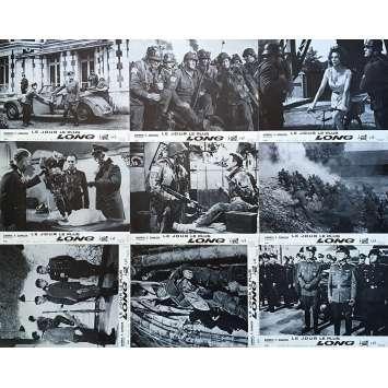 THE LONGEST DAY Original Lobby Cards x9 - 9x12 in. - 1962/R1970 - Ken Annakin, John Wayne, Dean Martin