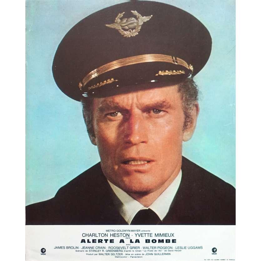 ALERTE A LA BOMBE Photo de film N01 - 21x30 cm. - 1972 - Charlton Heston, John Guillermin