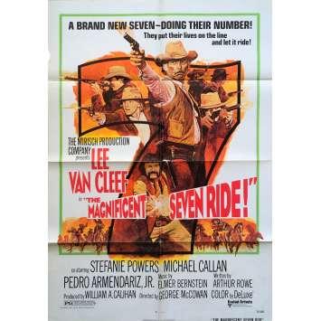 LA CHEVAUCHEE DES SEPT MERCENAIRES Affiche de film - 69x104 cm. - 1972 - Lee Van Cleef, George McCowan