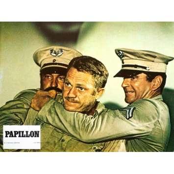 PAPILLON Original Lobby Card N07 - 9x12 in. - 1973 - Franklin J. Schaffner, Steve McQueen