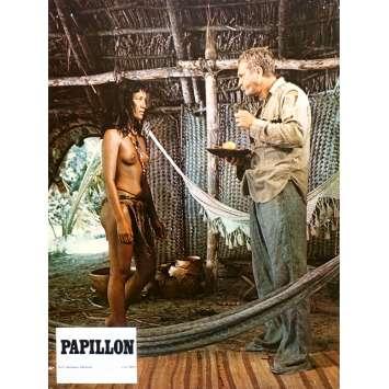 PAPILLON Original Lobby Card N06 - 9x12 in. - 1973 - Franklin J. Schaffner, Steve McQueen