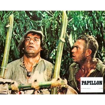 PAPILLON Photo de film N05 - 21x30 cm. - 1973 - Steve McQueen, Franklin J. Schaffner