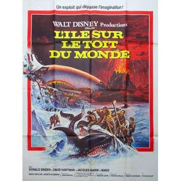THE ISLAND AT THE TOP OF THE WORLD Original Movie Poster - 47x63 in. - 1974 - Robert Stevenson, David Hartman, Donald Sinden