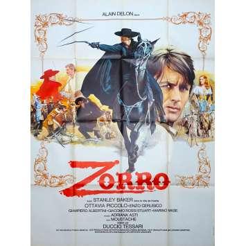ZORRO Original Movie Poster - 47x63 in. - 1975 - Duccio Tessari, Alain Delon