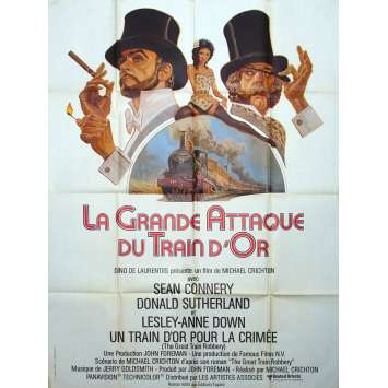 GREAT TRAIN ROBBERY Original Movie Poster - 47x63 in. - 1979 - Michael Crichton, Sean Connery