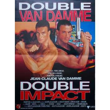 DOUBLE IMPACT Original Movie Poster - 15x21 in. - 1991 - Sheldon Lettich, Jean-Claude Van Damme
