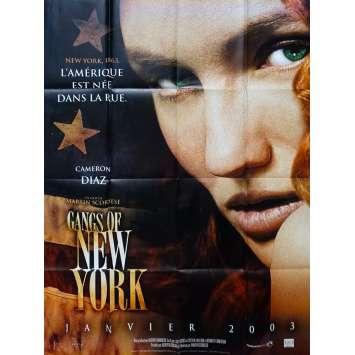 GANGS OF NEW YORK Original Movie Poster - 47x63 in. - 2002 - Martin Scorsese, Leonardo DiCaprio, Daniel Day-Lewis