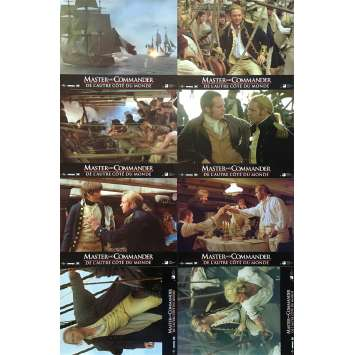 MASTER AND COMMANDER Original Lobby Cards x8 - 9x12 in. - 2003 - Peter Weir, Russell Crowe