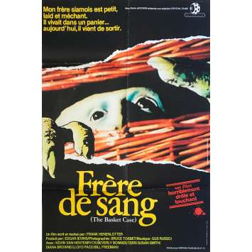 BASKET CASE Movie Poster 32x47 in. French - 1982 - Franck Henenlotter, Kevin van Hentenryck