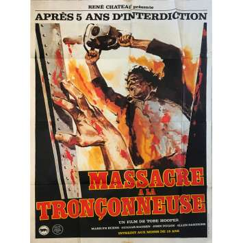 THE TEXAS CHAINSAW MASSACRE Original Movie Poster - 47x63 in. - 1974 - Tobe Hooper, Marilyn Burns