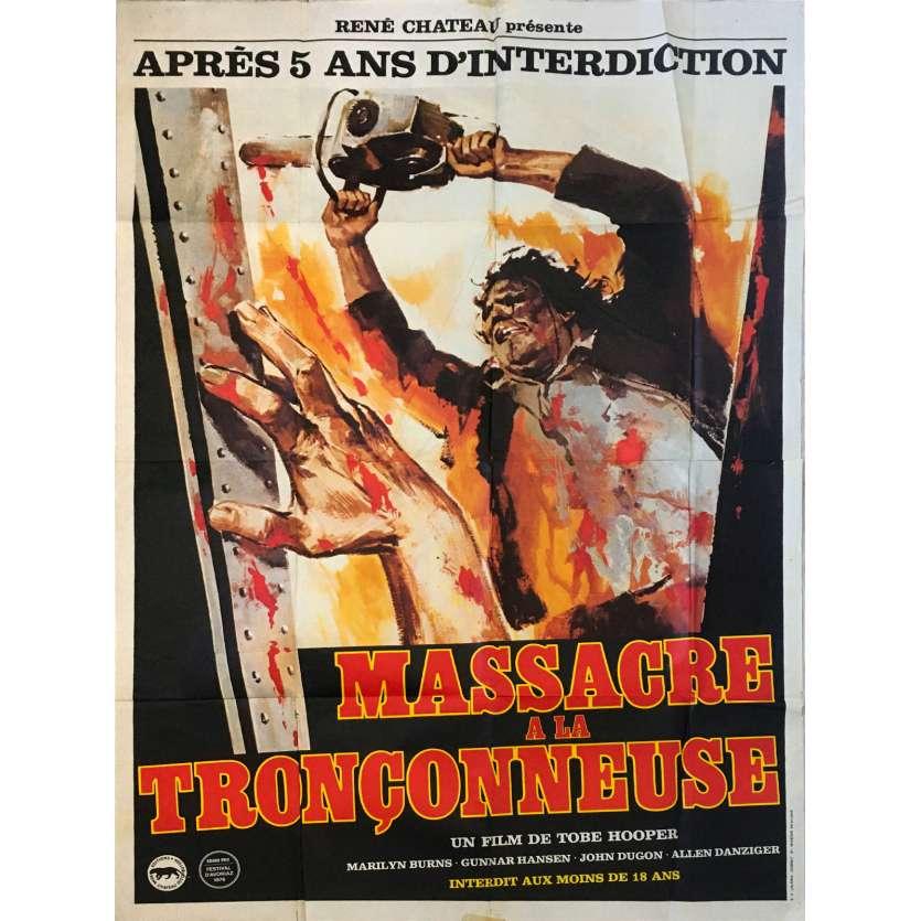 MASSACRE A LA TRONÇONNEUSE Affiche de film - 120x160 cm. - 1974 - Marilyn Burns, Tobe Hooper